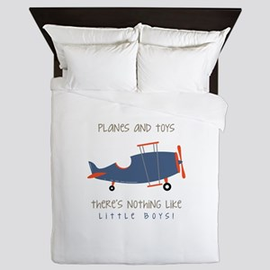 Planes And Toys Queen Duvet