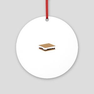 SMore Cracker Ornament (Round)