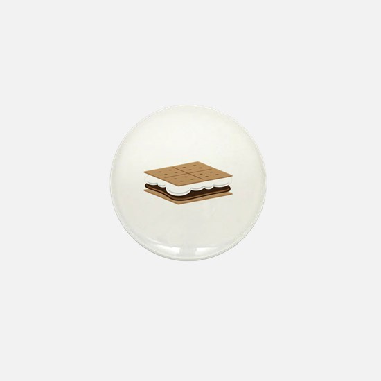 SMore Cracker Mini Button