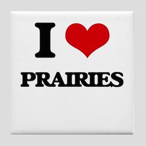 I Love Prairies Tile Coaster