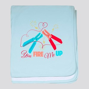 You Fire Me Up baby blanket