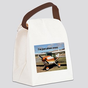 I'm just plane crazy: high wing Canvas Lunch Bag