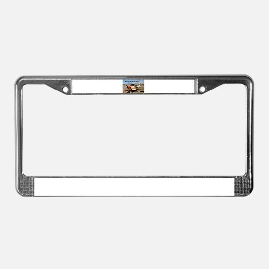 I'm just plane crazy: high win License Plate Frame