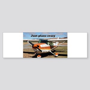 Just plane crazy: Cessna Skyhawk Bumper Sticker