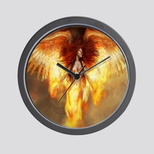 Beautiful Fire Angel Wall Clock