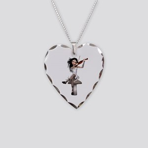 Onyx Fairy ~ Sweet Lullaby Necklace Heart Charm