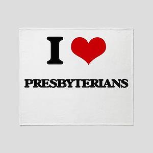 I Love Presbyterian Throw Blanket