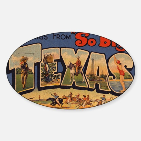 Vintage Texas Sticker (Oval)