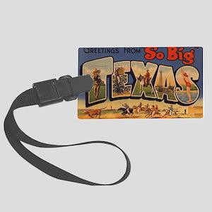 Vintage Texas Large Luggage Tag