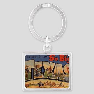 Vintage Texas Landscape Keychain