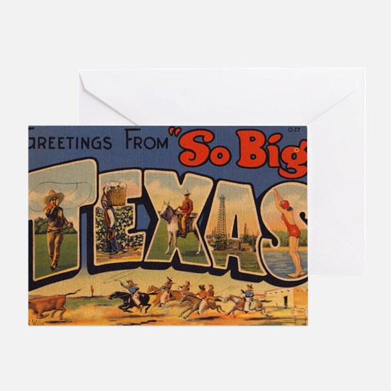 Vintage Texas Greeting Card