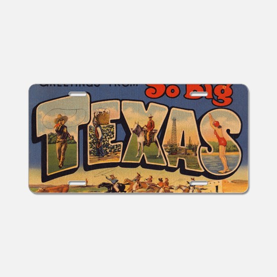 Vintage Texas Aluminum License Plate