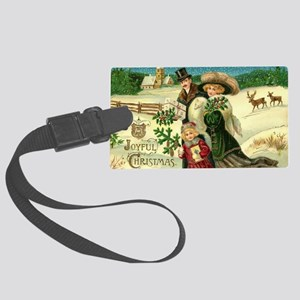 Vintage Christmas Large Luggage Tag