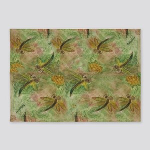 Dragonfly Cotton Candy 5'x7'Area Rug