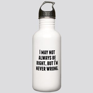 Im Never Wrong Water Bottle