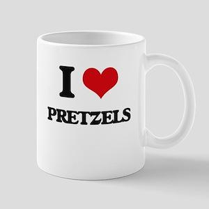I Love Pretzels Mugs