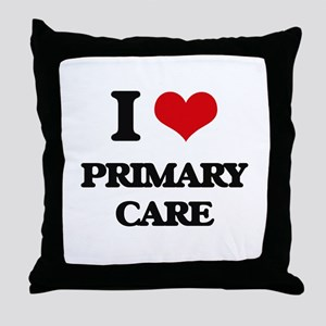I Love Primary Care Throw Pillow