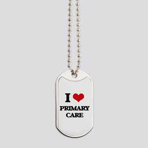 I Love Primary Care Dog Tags