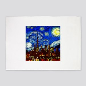 Starry Night Chicago 5'x7'Area Rug