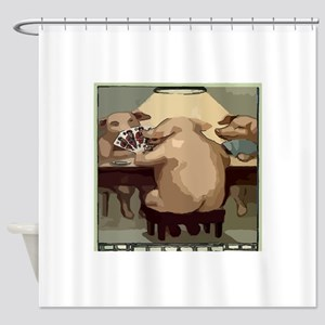 Poker Hogs Shower Curtain
