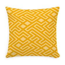 Gold Mosaics Everyday Pillow