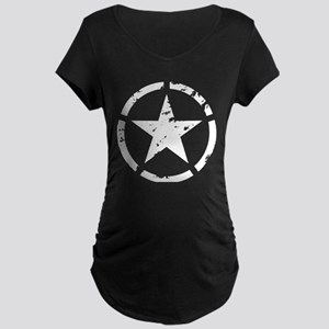 Military Star Grunge Maternity T-Shirt