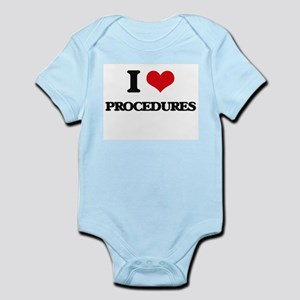 I Love Procedures Body Suit