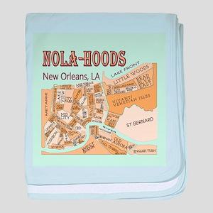 NOLA-Hoods baby blanket