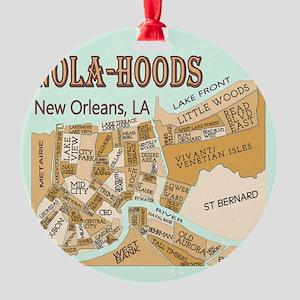 NOLA-Hoods Round Ornament