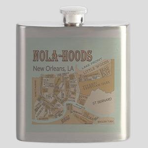 NOLA-Hoods Flask