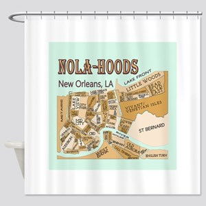 NOLA-Hoods Shower Curtain