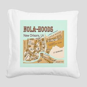 NOLA-Hoods Square Canvas Pillow