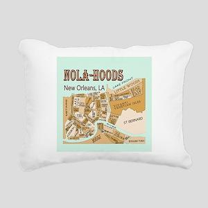 NOLA-Hoods Rectangular Canvas Pillow