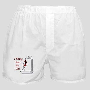I FINALLY FIXED THE SINK Boxer Shorts
