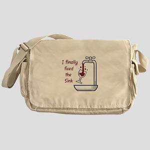 I FINALLY FIXED THE SINK Messenger Bag