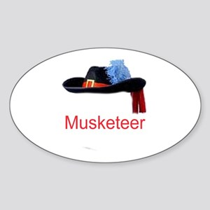 Musketeer Oval Sticker