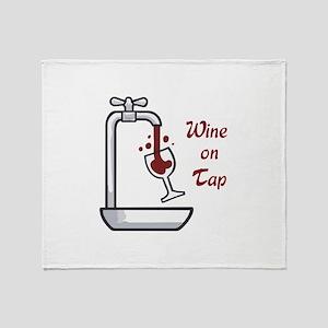 WINE ON TAP Throw Blanket