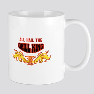 ALL HAIL THE GRILL KING Mugs