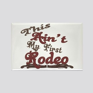 First Rodeo Rectangle Magnet