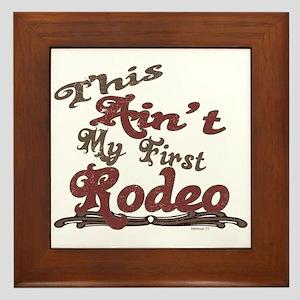 First Rodeo Framed Tile