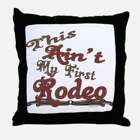 First Rodeo Throw Pillow