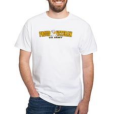 Proud Veteran - Army White T-Shirt