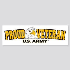 Proud Veteran - Army Sticker (Bumper)