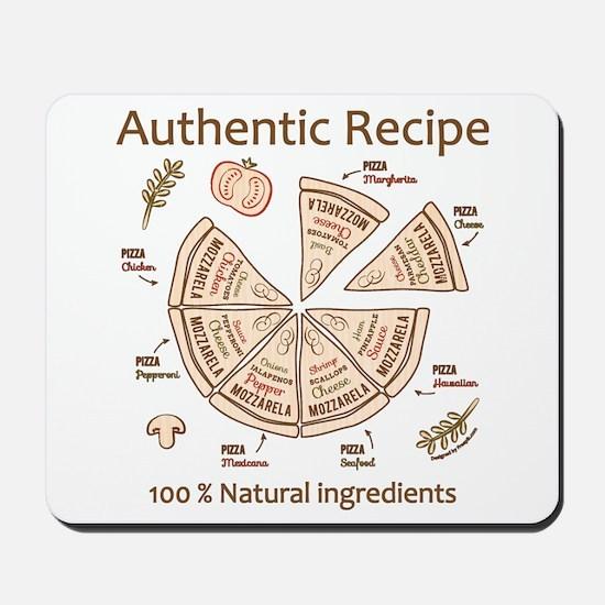 Pizza-Authentic Recipe Mousepad