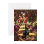 Dobie on the Path Greeting Cards (Pk of 10)