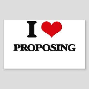 I Love Proposing Sticker
