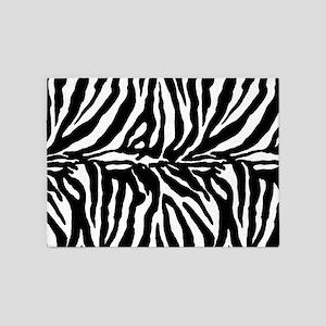 Zebra stripe, black & white 5'x7'Area Rug