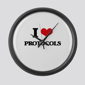 I Love Protocols Large Wall Clock