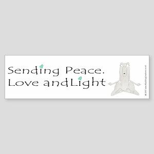Sending Peace, Love and Light Veh Sticker (Bumper)