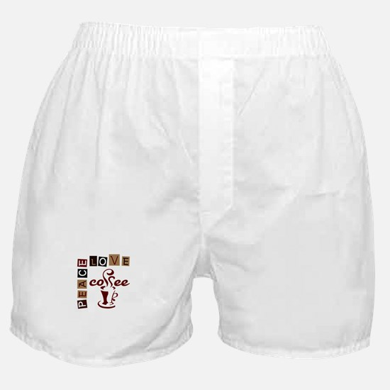 PEACE LOVE COFFEE Boxer Shorts